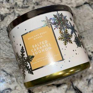 Salted Caramel Eggnog Bath & Body Works Candle